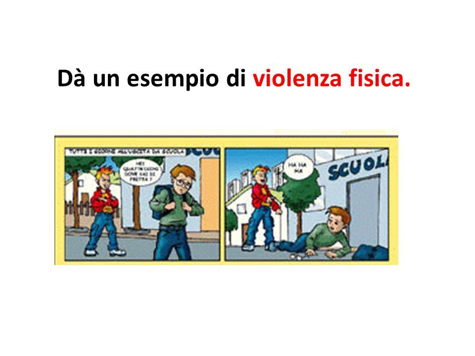 Il bullismo è una violenza fisica -Picchiare -Rubare il telefonino -Rovinare le cose personali = abîmer les objets personnels -Racket = chiedere soldi, oggetti,…
