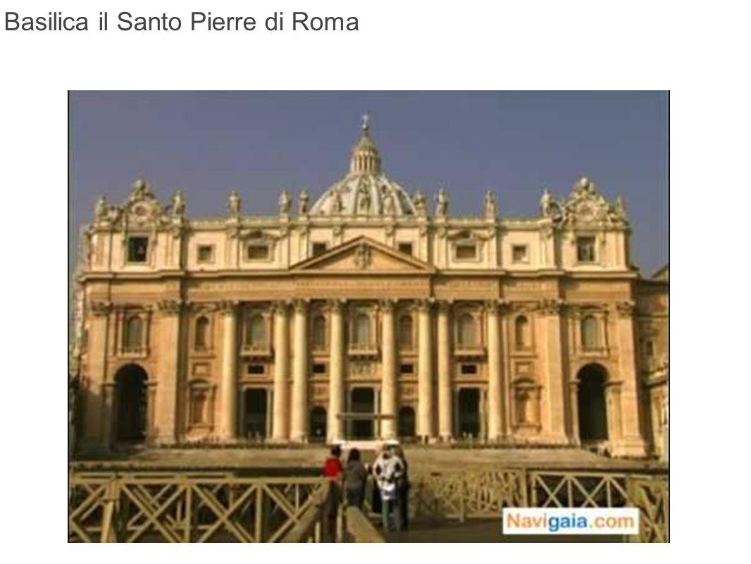 La basilica San Pietro, in latino Sancti Pétri, o più esattamente San Pietro del Vaticano, San Pietro in Vaticano, è il più importante edificio religioso del cattolicesimo.