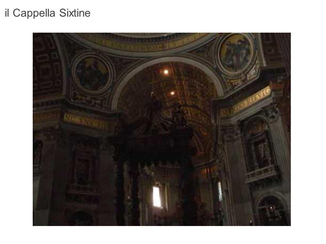La volta del Cappella Sixtine costituisce una delle più belle realizzazioni della storia dell arte.