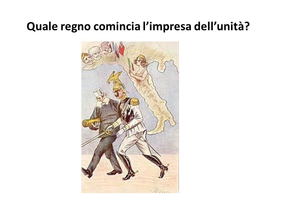 Il regno del Piemonte-Sardegna comincia limpresa dellunità. Il Piemonte-Sardegna