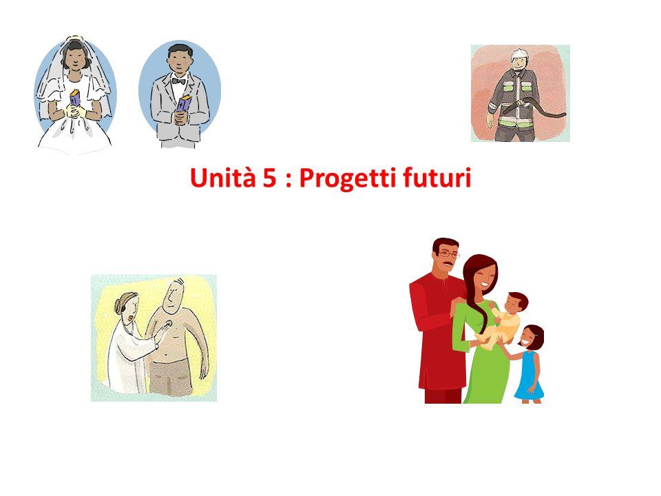 Unità 5 : Progetti futuri