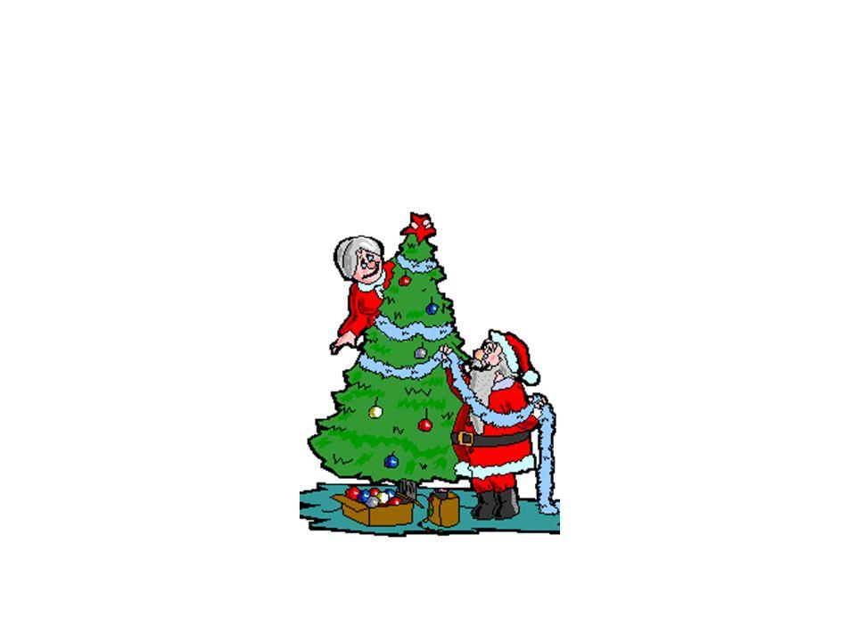 Babbo Natale va sul tetto e entra nelle case dal camino
