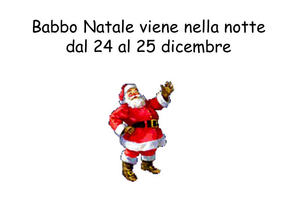 Babbo Natale viene nella notte dal 24 al 25 dicembre