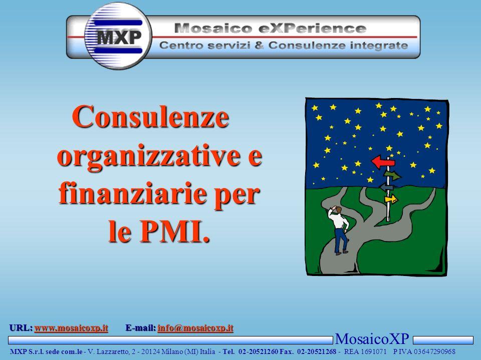 MosaicoXP MXP S.r.l. sede com.le - V. Lazzaretto, 2 - 20124 Milano (MI) Italia - Tel.