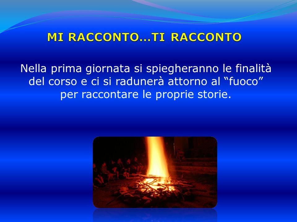 Nella prima giornata si spiegheranno le finalità del corso e ci si radunerà attorno al fuoco per raccontare le proprie storie.