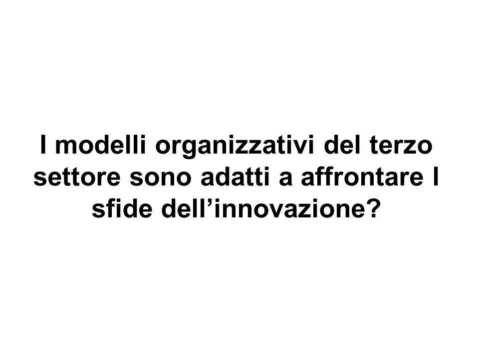 I modelli organizzativi del terzo settore sono adatti a affrontare l sfide dellinnovazione