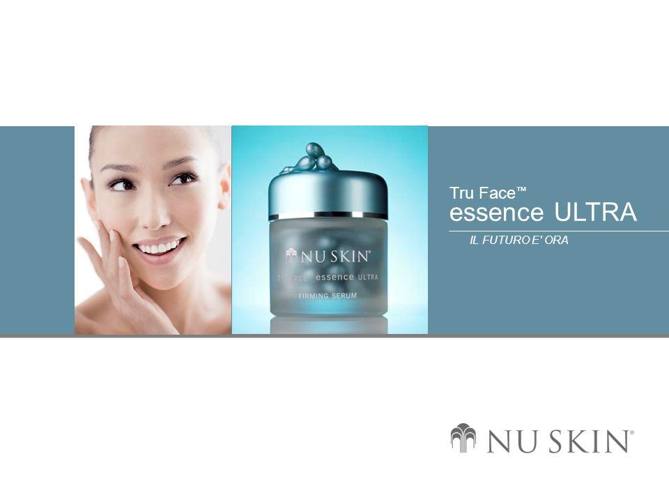 © 2001 Nu Skin International, Inc Tru Face essence ULTRA IL FUTURO E ORA Descrizione dei benefici b) Contribuisce a prevenire la decomposizione dell elastina con gli inibitori dell elastasi.