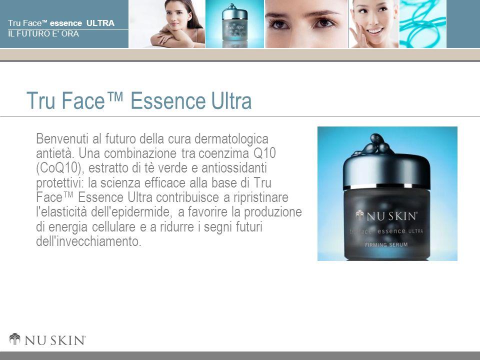© 2001 Nu Skin International, Inc Tru Face essence ULTRA IL FUTURO E' ORA Tru Face Essence Ultra Benvenuti al futuro della cura dermatologica antietà.