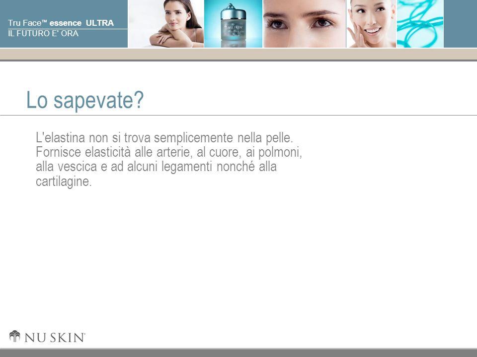 © 2001 Nu Skin International, Inc Tru Face essence ULTRA IL FUTURO E' ORA Lo sapevate? L'elastina non si trova semplicemente nella pelle. Fornisce ela