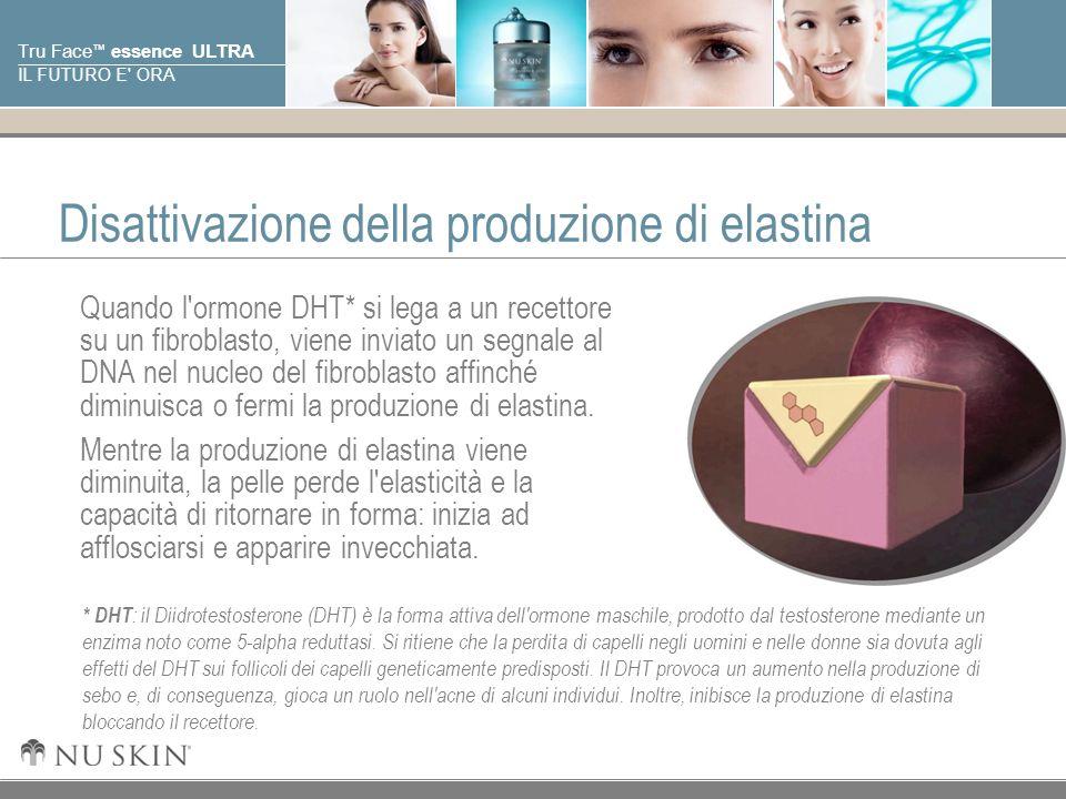 © 2001 Nu Skin International, Inc Tru Face essence ULTRA IL FUTURO E ORA Attivazione della produzione di elastina Gli anti-androgeni hanno un affinità con gli stessi recettori a cui si lega il DHT.