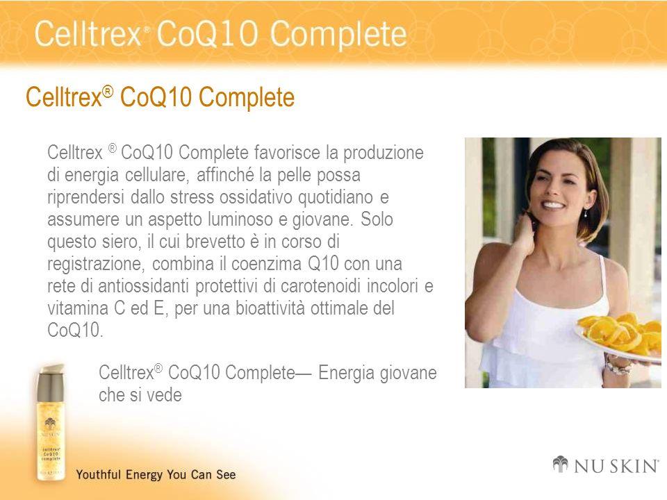 Celltrex ® CoQ10 Complete Celltrex ® CoQ10 Complete favorisce la produzione di energia cellulare, affinché la pelle possa riprendersi dallo stress oss