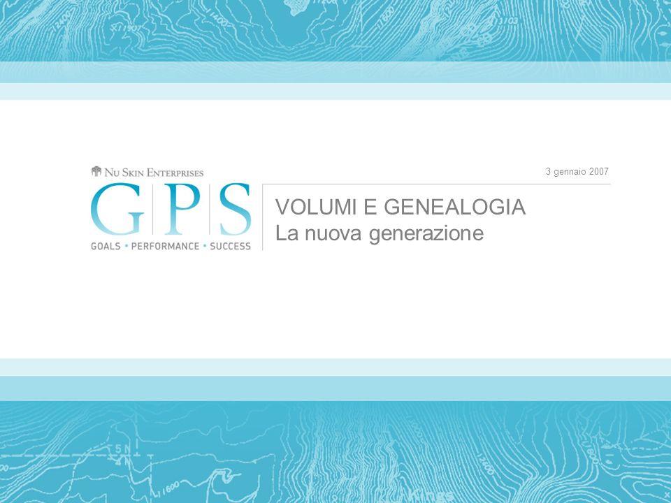 3 gennaio 2007 VOLUMI E GENEALOGIA La nuova generazione