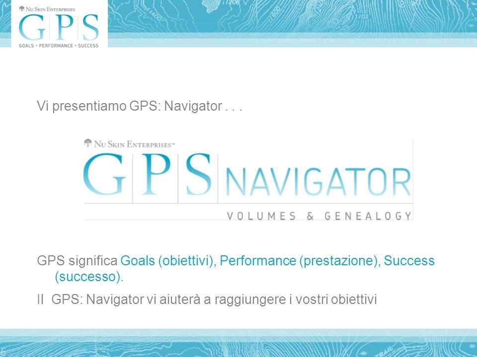 Vi presentiamo GPS: Navigator...