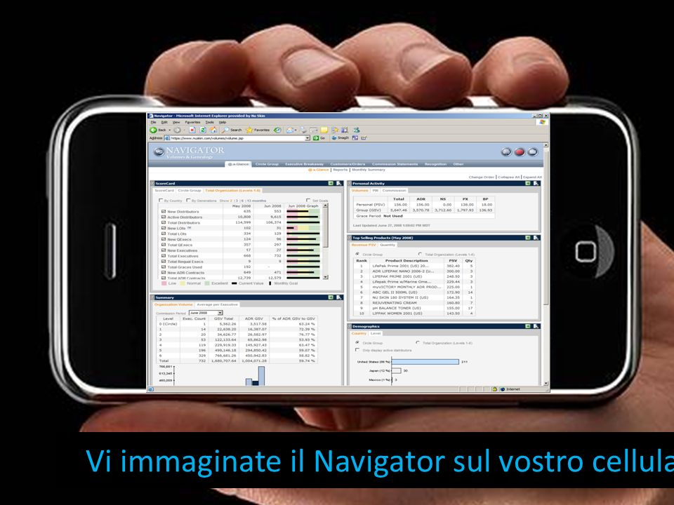 Vi immaginate il Navigator sul vostro cellulare?