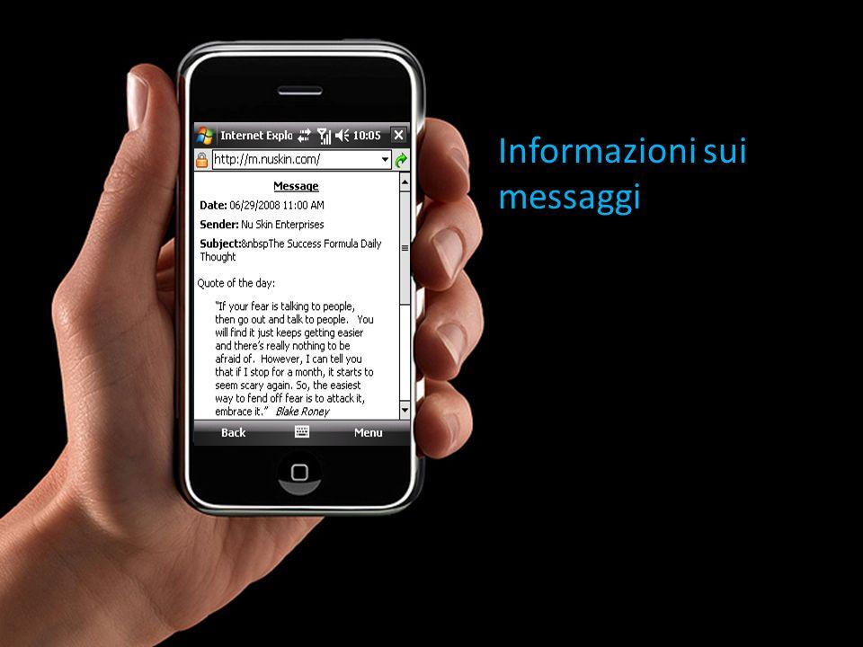 Informazioni sui messaggi