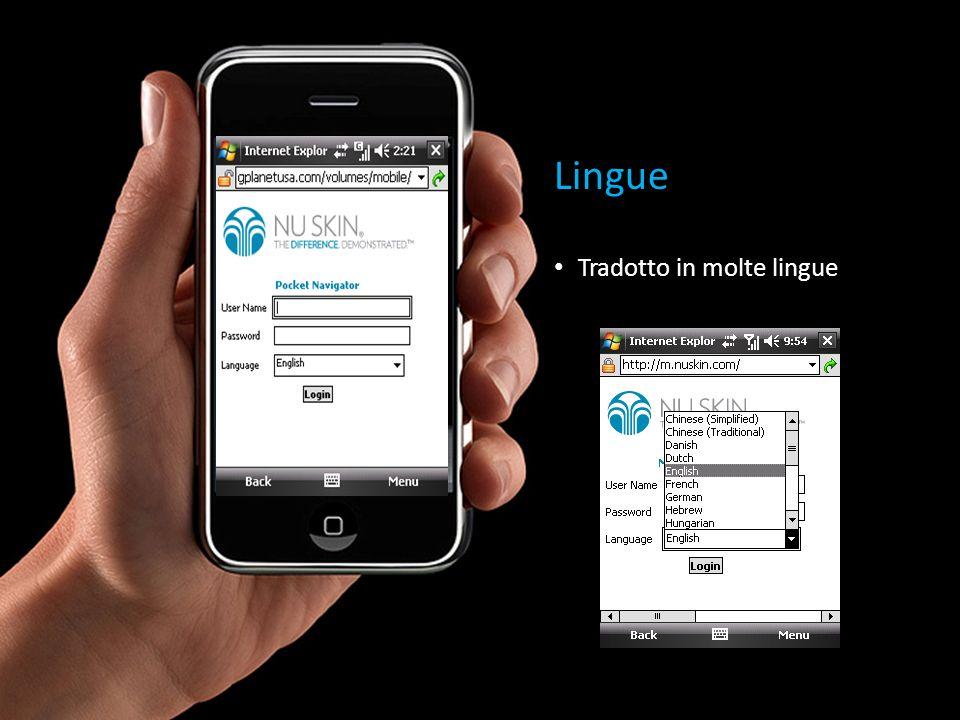 Lingue Tradotto in molte lingue