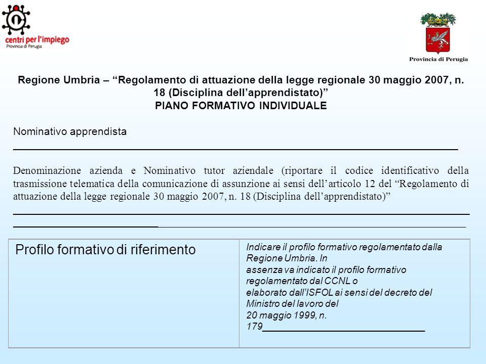Regione Umbria – Regolamento di attuazione della legge regionale 30 maggio 2007, n.