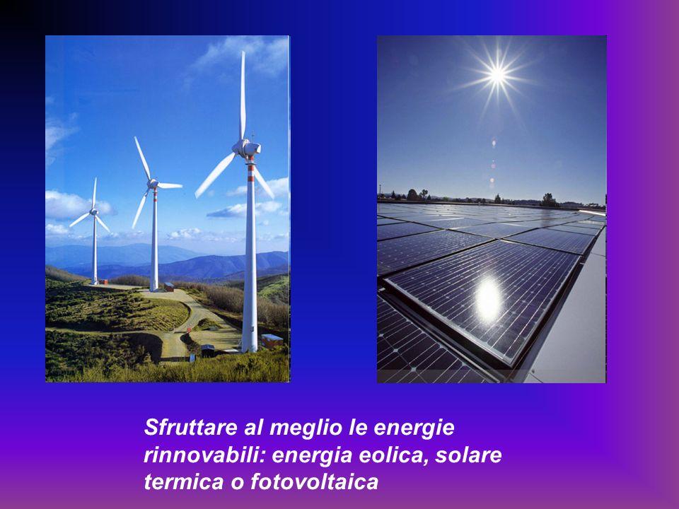 Sfruttare al meglio le energie rinnovabili: energia eolica, solare termica o fotovoltaica