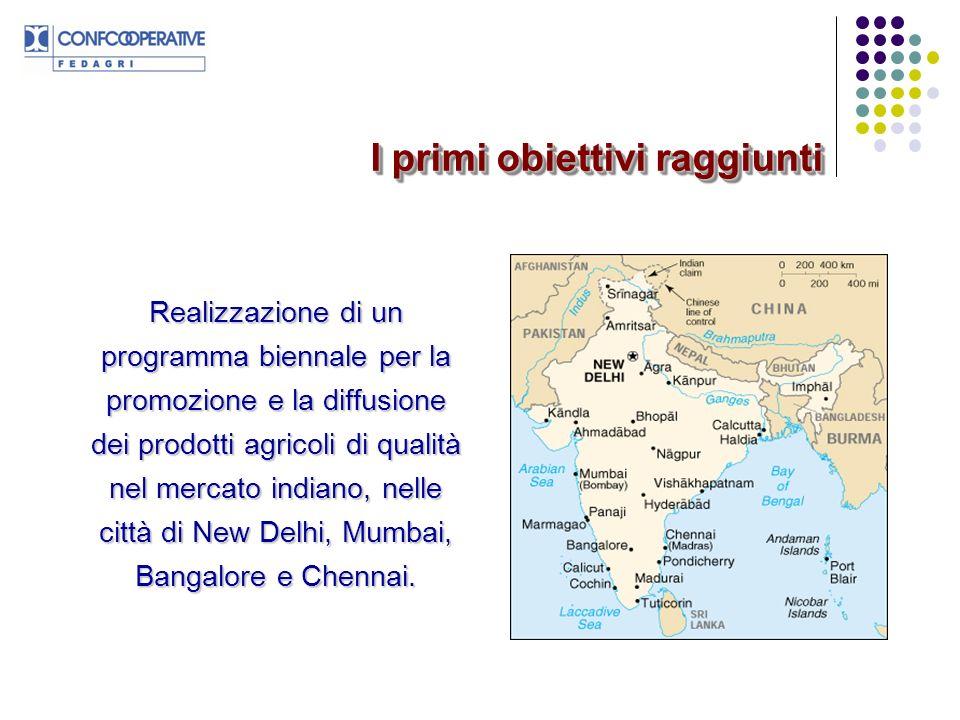 Accreditamento di Fedagri e quindi del Consorzio Òpera presso le Istituzioni indiane ed in particolare presso i Ministeri dellAgricoltura e dellIndustria Alimentare.