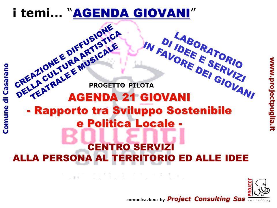 Project Consulting Sas comunicazione by Project Consulting Sas www.projectpuglia.it Comune di Casarano I TEMI….