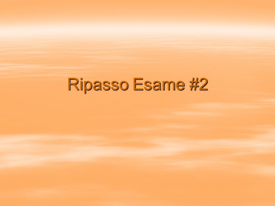 Esame #2 A.Ascolto (10pts.) B.