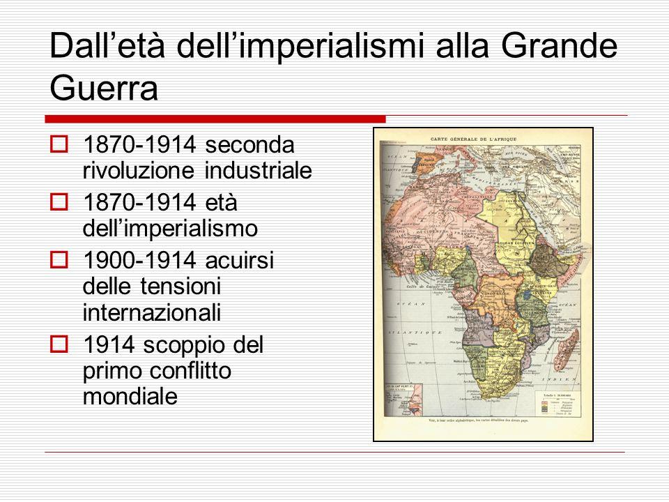 Dalletà dellimperialismi alla Grande Guerra 1870-1914 seconda rivoluzione industriale 1870-1914 età dellimperialismo 1900-1914 acuirsi delle tensioni