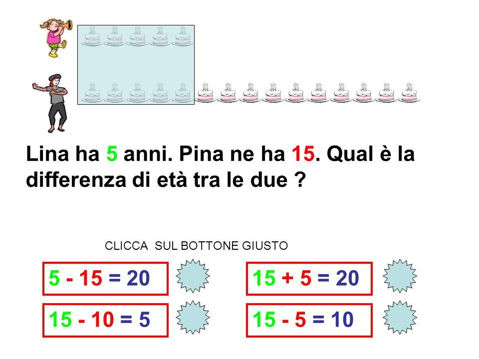 8 - 6 = 2 8 + 6 = 14 6 + 8 =14 6 - 8 = . QUANTI ANNI HA CARLETTO PIÙ DI SANDRA.