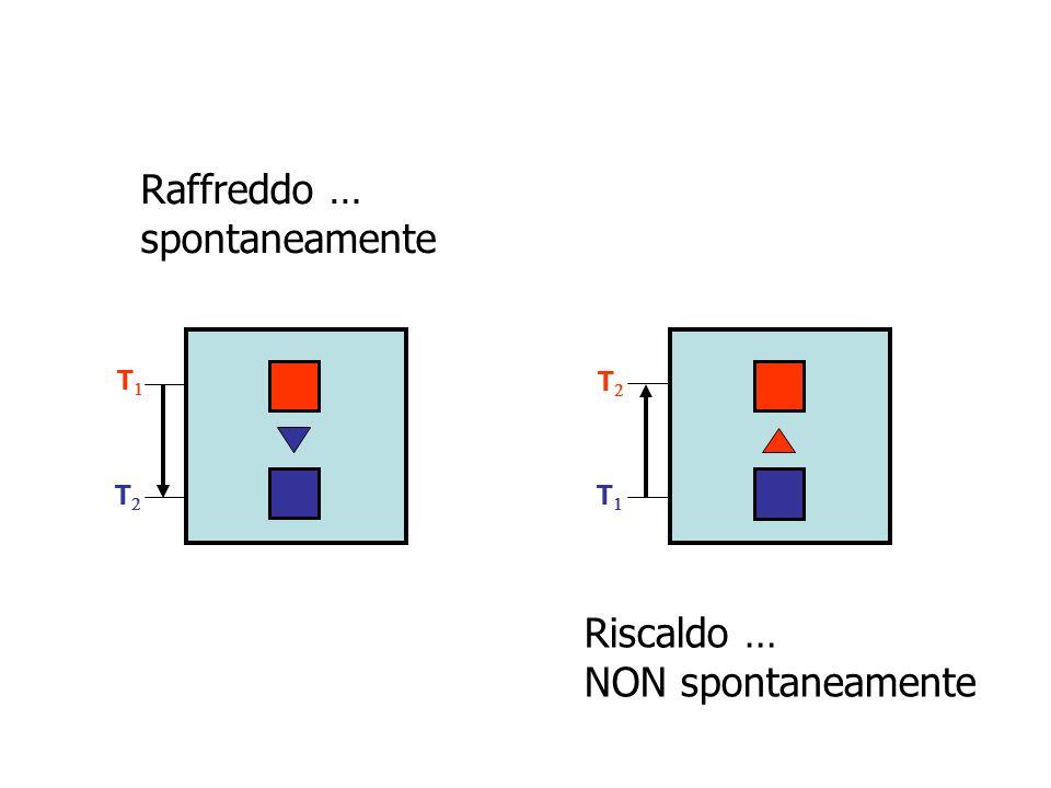T T T T Raffreddo … spontaneamente Riscaldo … NON spontaneamente