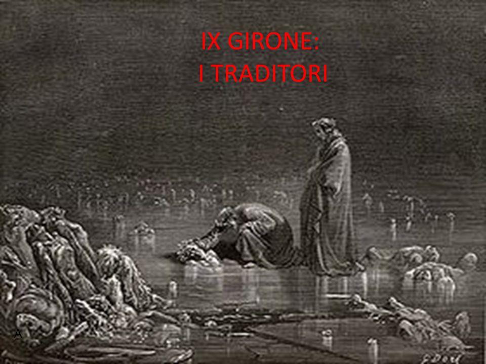IX GIRONE: I TRADITORI A