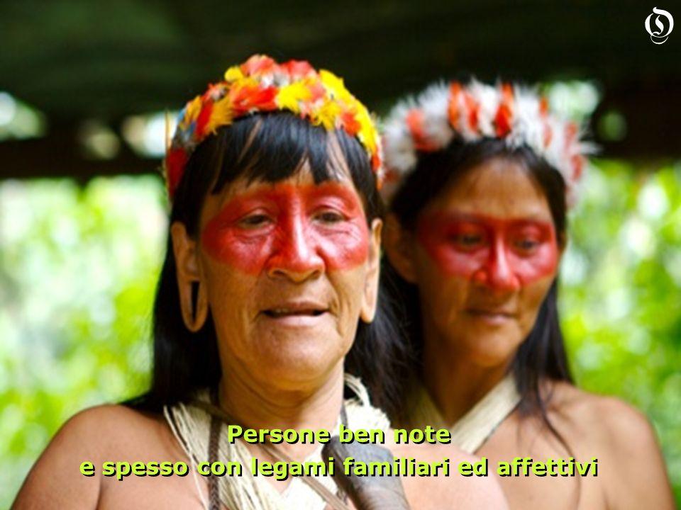 Persone ben note e spesso con legami familiari ed affettivi Persone ben note e spesso con legami familiari ed affettivi O