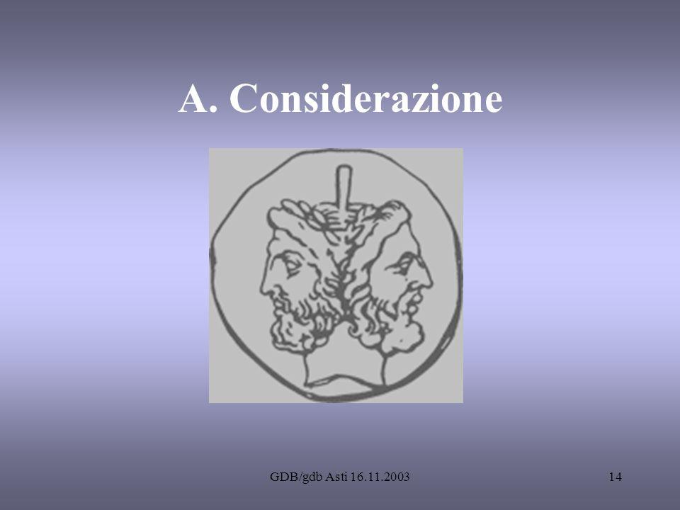 GDB/gdb Asti 16.11.200314 A. Considerazione