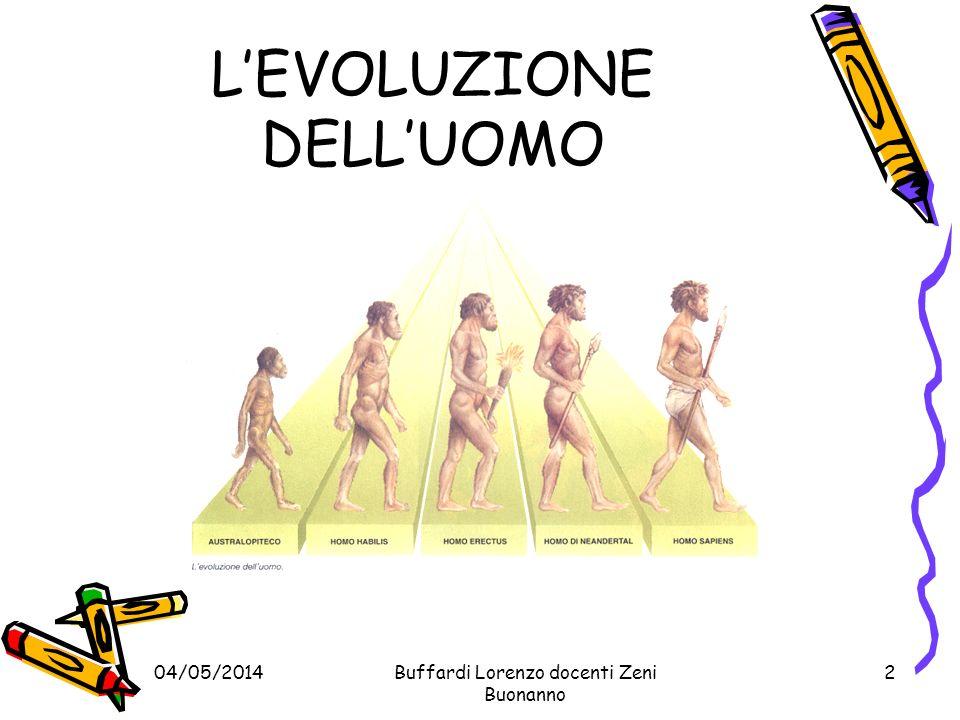 Buffardi Lorenzo docenti Zeni Buonanno 3 04/05/2014 SCIMMIE ANTROPOMORFA SCIMMIE ANTROPOMORFA In Africa si diffuse un altro genere di Primati, assomigliavano ai Primati ma erano molto più grossi, con un cervello più grande e le braccia più lunghe e robuste: si trattava delle SCIMMIE ANTROPOMORFE