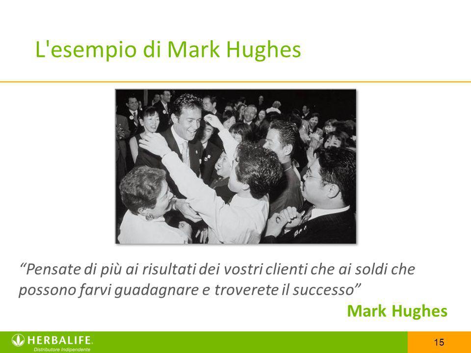 15 L'esempio di Mark Hughes Pensate di più ai risultati dei vostri clienti che ai soldi che possono farvi guadagnare e troverete il successo Mark Hugh
