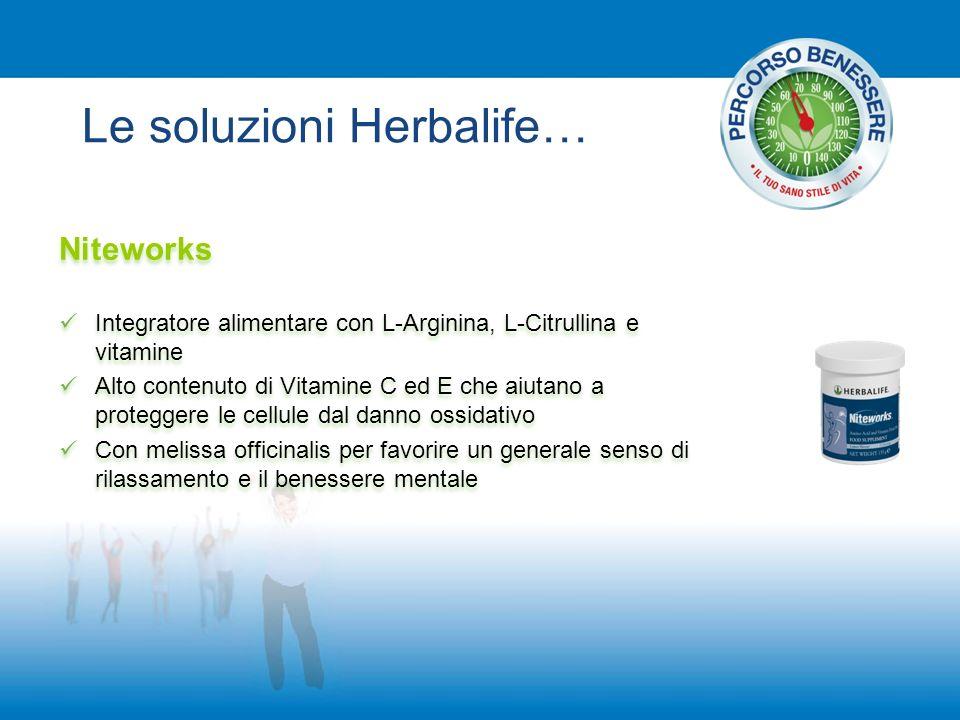 Le soluzioni Herbalife… Niteworks Integratore alimentare con L-Arginina, L-Citrullina e vitamine Alto contenuto di Vitamine C ed E che aiutano a prote