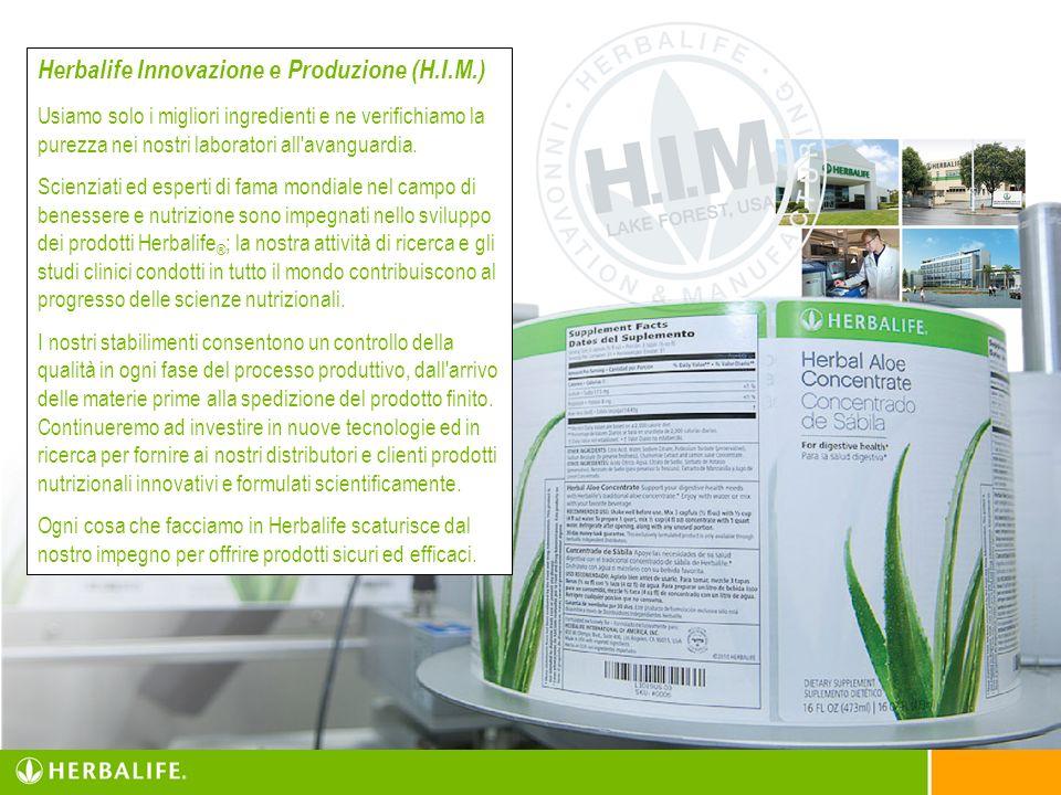 Herbalife Innovazione e Produzione (H.I.M.) Usiamo solo i migliori ingredienti e ne verifichiamo la purezza nei nostri laboratori all'avanguardia. Sci