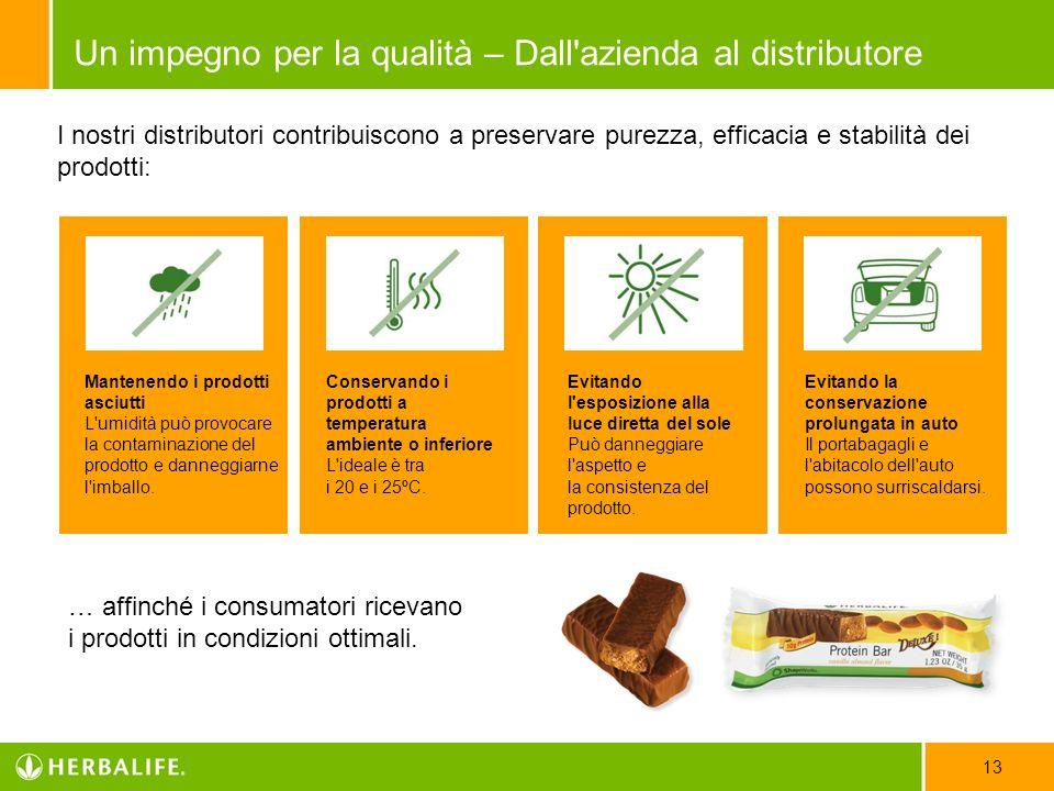 I nostri distributori contribuiscono a preservare purezza, efficacia e stabilità dei prodotti: … affinché i consumatori ricevano i prodotti in condizi