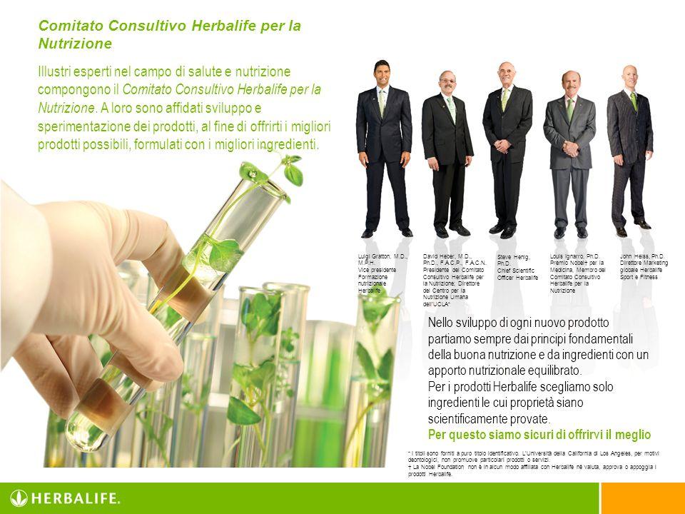 Comitato Consultivo Herbalife per la Nutrizione Illustri esperti nel campo di salute e nutrizione compongono il Comitato Consultivo Herbalife per la N