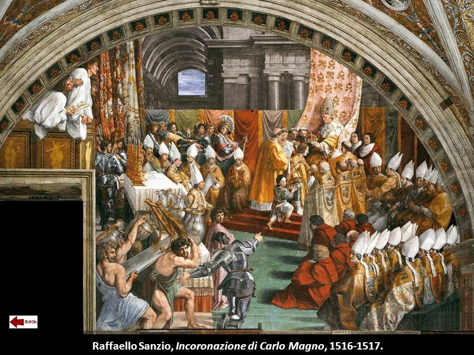 Raffaello Sanzio, Incoronazione di Carlo Magno, 1516-1517.