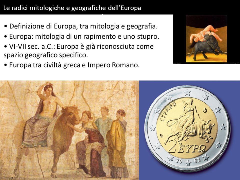 Le radici mitologiche e geografiche dellEuropa Carlo Adelio Galimberti, Ratto dEuropa, 1998.