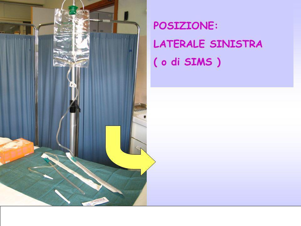 12 POSIZIONE: LATERALE SINISTRA ( o di SIMS )