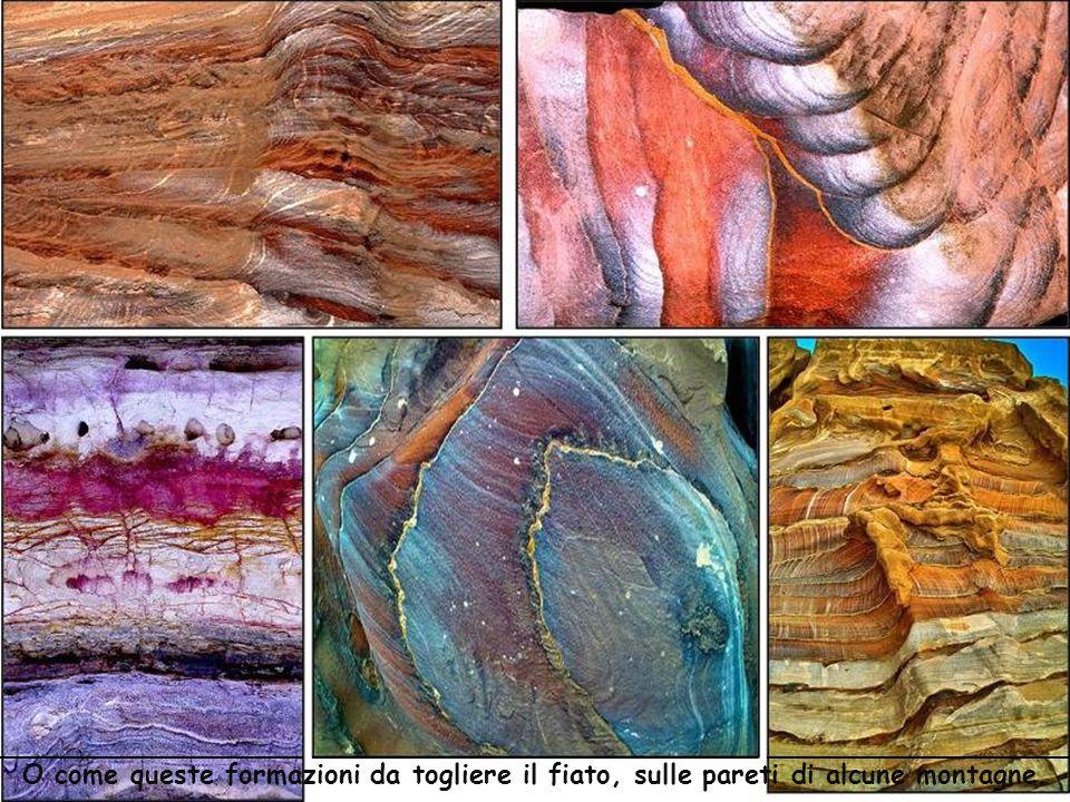 La composizione geologica colorata della sabbia è propizia alle pitture naturali come queste.