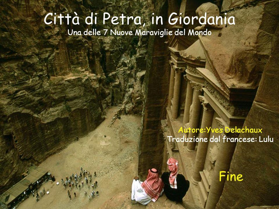 Nellanno 551 un secondo gran terremoto distrusse quasi tutta la città e Petra non è più Stata abitata.