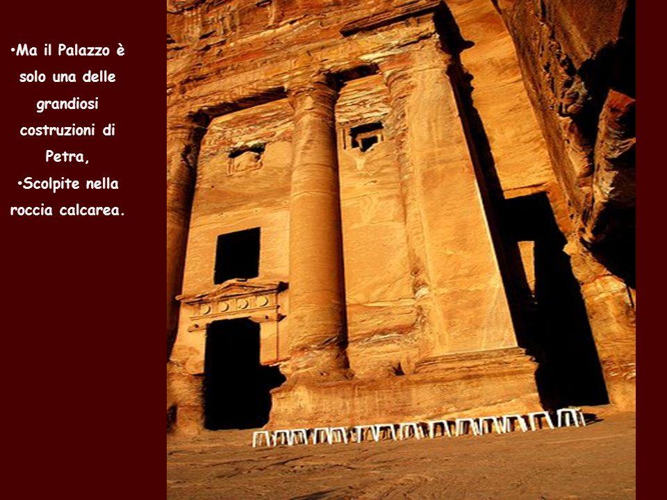 I Nabatei costruirono a Petra un sofisticato impianto idraulico con tunnel e camere dacqua.