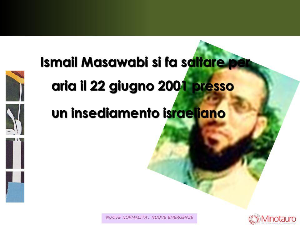 NUOVE NORMALITA, NUOVE EMERGENZE Ismail Masawabi si fa saltare per aria il 22 giugno 2001 presso un insediamento israeliano un insediamento israeliano