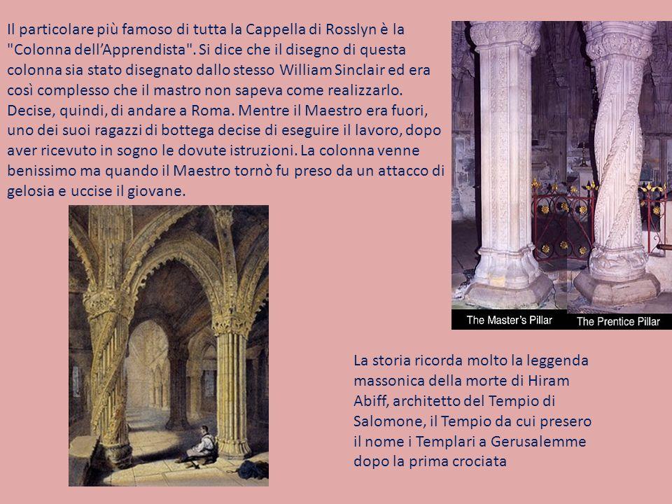 Il particolare più famoso di tutta la Cappella di Rosslyn è la