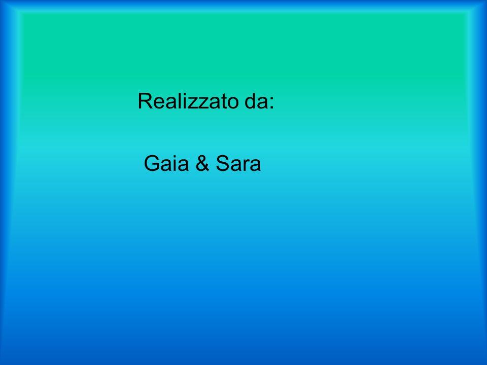 Realizzato da: Gaia & Sara