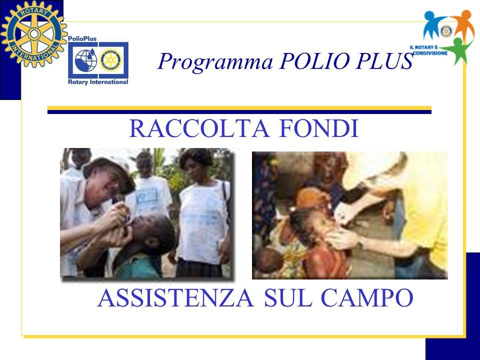 Programma POLIO PLUS 1979 progetto 3 H 1985 programma rotariano Polio Plus 2005 obiettivo per la eradicazione 2008 obiettivo per la completa eradicazione
