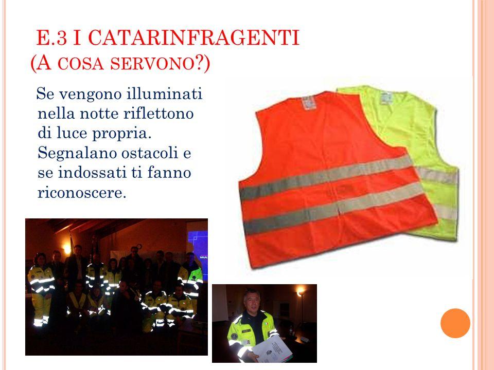 E.4 LE CINTURE DI SICUREZZA.