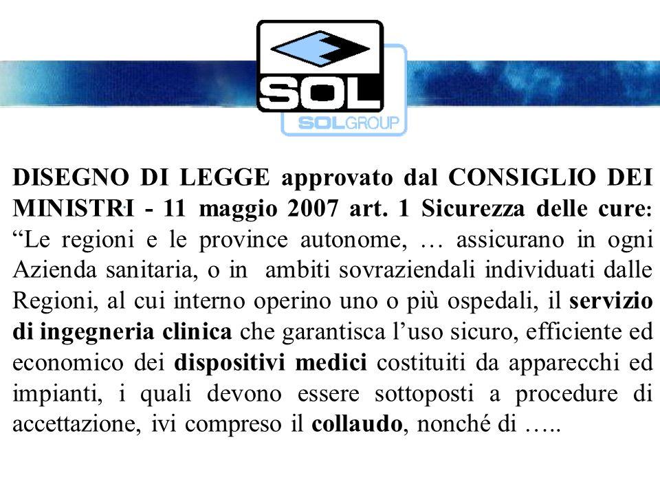 DISEGNO DI LEGGE approvato dal CONSIGLIO DEI MINISTRI - 11 maggio 2007 art.