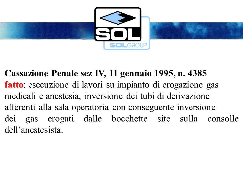 Cassazione Penale sez IV, 11 gennaio 1995, n.